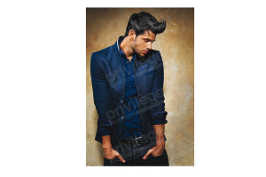 Poster coiffure homme 68 x 100