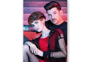 - Poster coiffure masculin feminin
