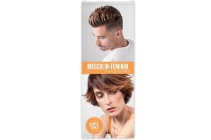 Kakemono coiffure masculin feminin