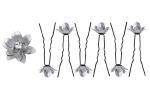 Epingle cheveux avec fleur