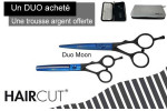 - Duo ciseaux Blue Moon + trousse Haircut offerte