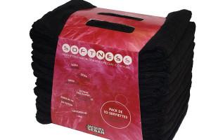 - Lot de10 serviettes microfibres noir