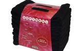 Dix serviettes microfibres noir