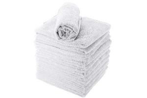Lot de 12 serviettes blanches