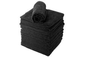 Lot de serviettes noir