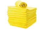 Lot de serviettes éponge jaune