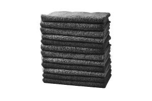 Lot de 12 serviettes barber et manucure noires