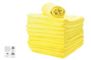 - Lot de serviettes éponge jaune