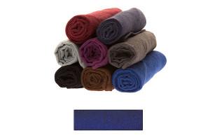 Lot de très grandes serviettes éponge bleu
