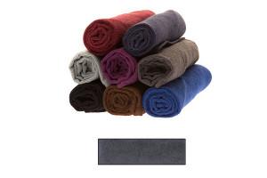 Lot de très grandes serviettes éponge gris anthracite