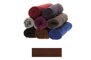 Lot de très grandes serviettes éponge marron