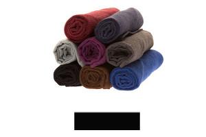 Lot de très grandes serviettes éponge noir