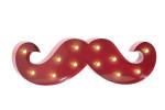 Moustache décoration lumineuse BARBER PRO