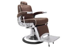 Fauteuil barbier Mustang marron vieilli