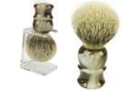 Blaireau barbier 100% soie grise