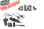 - Pack ciseaux rasoir peigne Académy t5.0