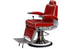 Fauteuil barbier Mustang rouge